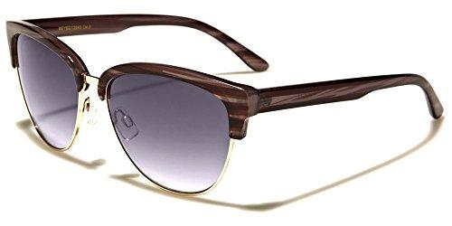Women Retro Eyecat Fashion Sunglasses (Shell Gold, gradient - Glasses Eyecat