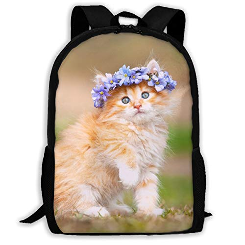 Maine Coon Kitten School Backpack for Boys Girls School Book Bags Backpack Canvas Casual Laptop School Backpack Rucksack Stylish School Backpack Bookbags College Bags Satchel Travel Bag Daypack ()
