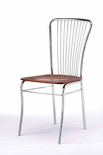 Sedie Cucina Metallo E Legno.Composad Sedia Irina Struttura Metallo Cromato E Seduta