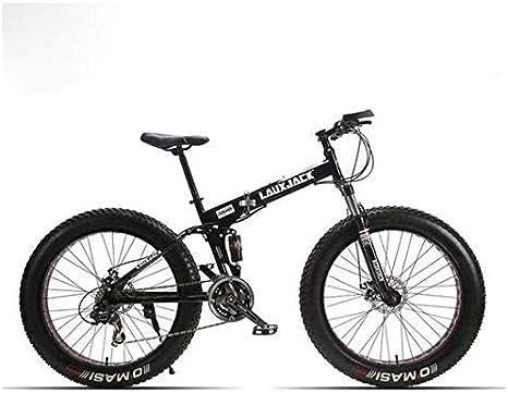 MEICHEN Suspensión de Grasa Bicicletas con armazón Acero Plegable 24 de Velocidad mecánico de Frenos 26