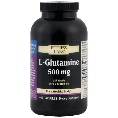 Fitness Labs L-Glutamine 500 mg, 400 Capsules