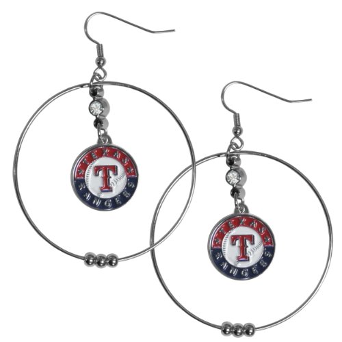 MLB Washington Nationals Hoop Earrings, 2-Inch (Chicago White Sox Rhinestone)