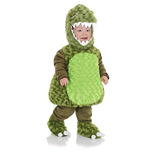 Underwraps Toddler's T-Rex Belly Babies Costume, Green, Extra Large (4-6) ()