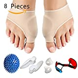 Bunion Corrector & Bunion Relief Protector Sleeves 8 PCS Kit for Hallux Valgus