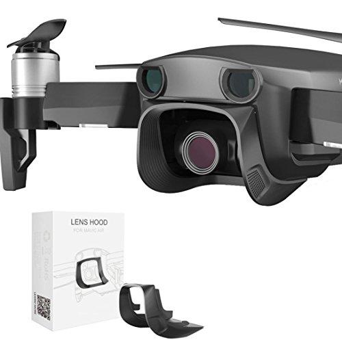 (Kanzd PGY Gimbal Lens Hood Protector Sun Shade Glare Shield for DJI Mavic Air Drone (Black))