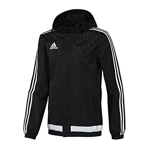 Price comparison product image adidas Youth Tiro 15 Rain Jacket (Black / White) (Small)