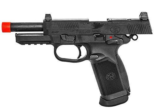 FN Herstal FNX-45 Tactical Gas Blowback Full Metal Airsoft Pistol with 25 Round Capacity (Jacketed Handgun Bullets)