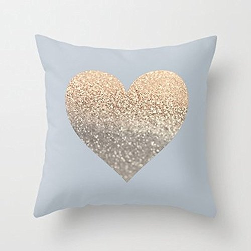 My Honey Pillow Gatsby Gold Heart Grey Ii November Skies Throw Pillow By Monika Strigelfor Your Home