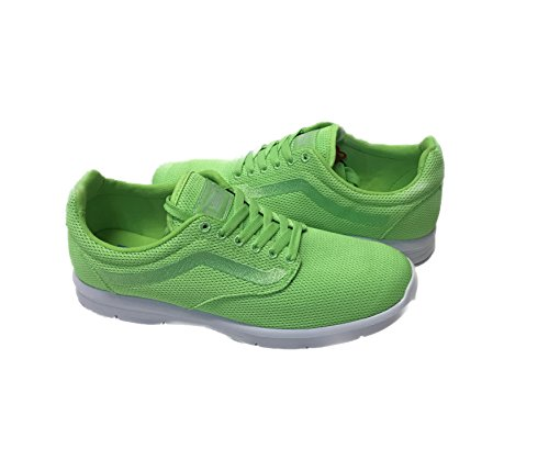 Vans ISO 1.5 Mens Green Mesh Athletic Lace Up Running Shoes 7.5