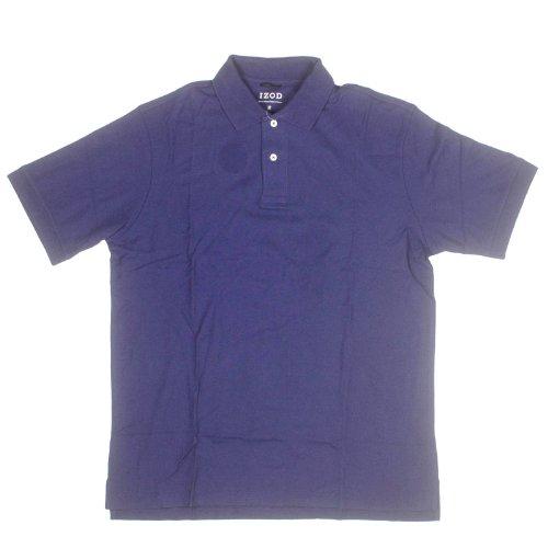 IZOD Mens Short Sleeve Pima Cotton Polo XX-Large Navy
