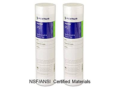 "24 pk Pentek 155014-43, P5 9-3/4"" x 2-3/8"" 5 Micron Sediment Melt Blown Filters Cartridges Spun Polypropylene"