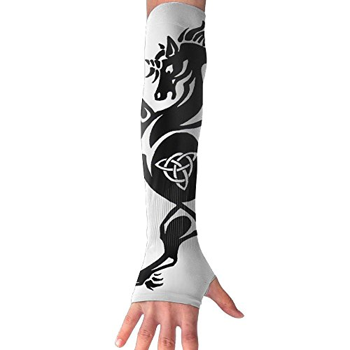 cool pattern Compression Cool Sun Protection Arms Cover For Girl Driving Arm (Boy Fairy Tale Graffiti)