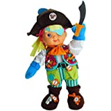 """Baby's First Premium Zip-ity Pirate Baby 14"""" Soft Machine Washable Baby Doll for Boys and Girls 1+"""