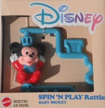 DISNEY SPIN'N PLAY Rattle BABY MICKEY by Disney   B005VN1KAK