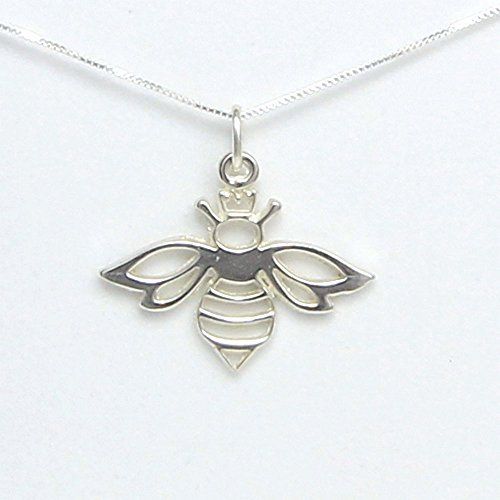 Queen Bee Necklace – Includes Story Card It's Good to be the Queen – Handcrafted in USA Sterling Silver 18 Chain