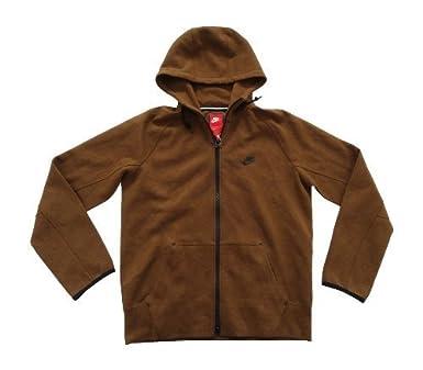 3fd1dc7ed1c2 Nike mens tech fleece AW77 1.0 full zip hoodie 559592 292 brown size ...