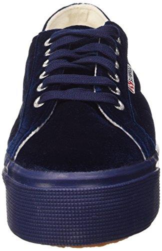381 Femme velvetw Superga Bleu 2790 Blue Chaussures wzHxq6nO