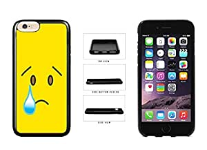 Bright Yellow Sad with Tear Face pc pc SILICONE Phone Case Back Cover Apple iPhone 6 Plus (5.5 inches)