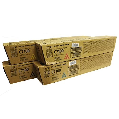 Discount 828384 828385 828386 828387 Genuine Ricoh Lot of 4 CMYK, Color Set Toner C7100 for sale