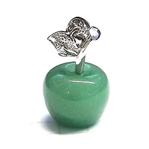 Jade Green Apple Pendant Charm .925 Sterling Silver Cute Petite Fun Charm ВК-22