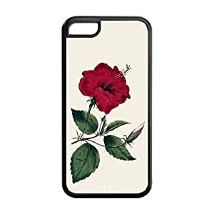 LJF phone case the Case Shop- Vintage Flowers Watercolor TPU Rubber Hard Back Case Cover Skin for iphone 4/4s ,i5cxq-25