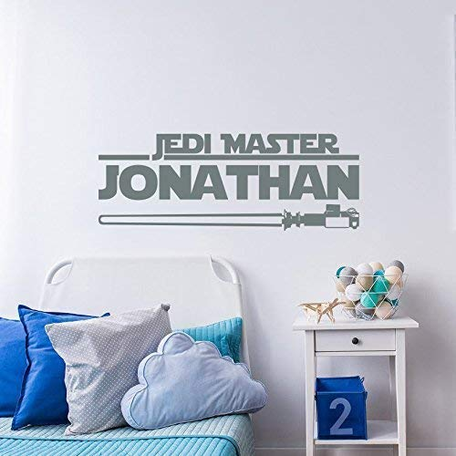 Star Wars Name Decal Boy. Jedi Master Name Wall Sticker Nursery Vinyl Art. Kids Room Wall Decor. Star Wars Decor Jedi Name Wall Decal f52