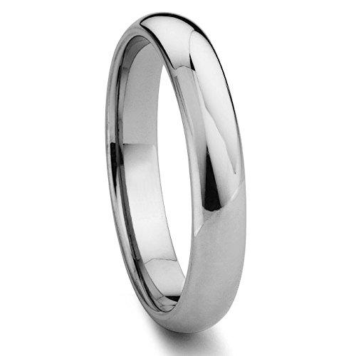 Eric Designs Tungsten 4MM Plain Dome Wedding Band Sz 7.5 SN#221 ()