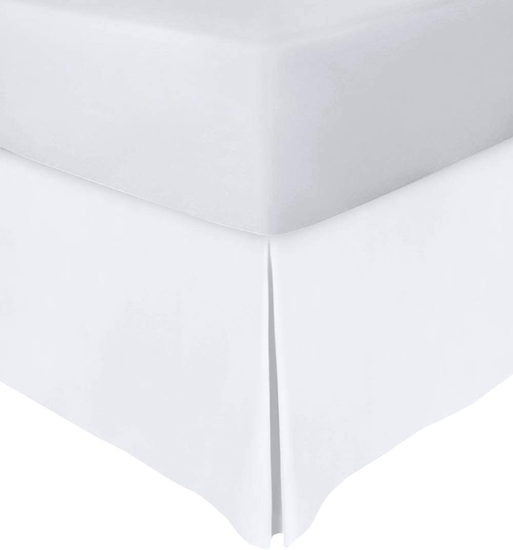 Utopia Bedding Twin Bed Skirt,15 Inch Drop (White)