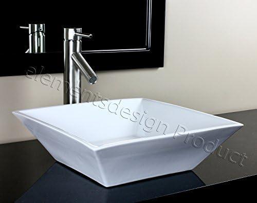 Bathroom Ceramic Porcelain Vessel Sink CV7034N1 Nickel Faucet Drain