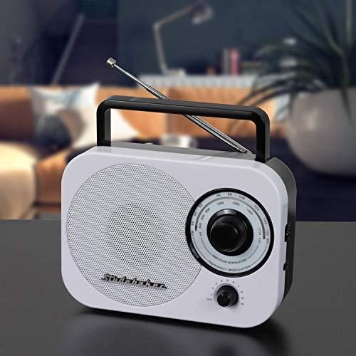 Studebaker AM/FM Radio Retro Classic SB-2000 White/Black Portable AM/FM Radio with Aux Input Limited (Edition Color) (Fm Radio Ac)