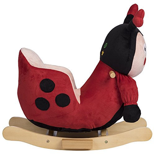 Rockin' Rider Lala The Ladybug Baby Rocker Plush Ride-On, Red by Rockin' Rider (Image #3)