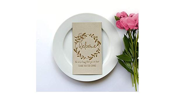 Michelle /& Kent Rustic Kraft Place Cards Typewriter Wedding Reception Name Card Kraft Escort Cards