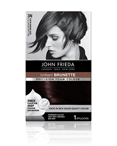 (John Frieda Precision Foam Colour, Deep Brown Black 3N)