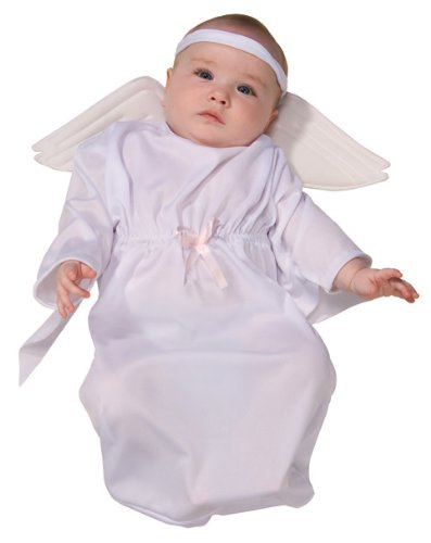 [Rubie's Costume Tyke Or Treat Baby Bunting Costume Angel, Angel, 0-9 Months] (Devil Baby Halloween Costume)