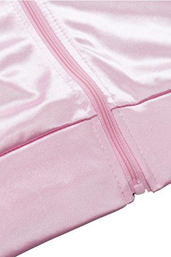 1950s Saten Lunares Pink Rosa de Abrigo Carnaval Panuelo Halloween con Grease de Pink Chaqueta Danny Pink para helymore el de Ladies q7tw5WU0