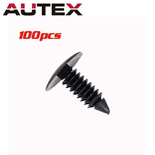 (PartsSquare 100pcs Fender Liner Fastener Rivet Push Clips Retainer Fastener Replacement for)