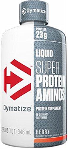 Dymatize Nutrition Liquid Super Amino 23000mg, Berry, 32 Ounce Super Amino Acids