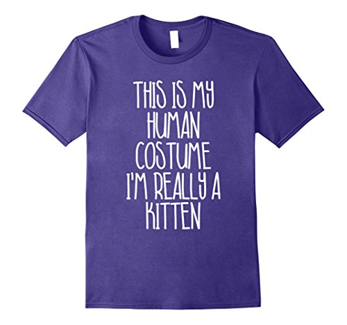 Costume Man Kitten (Mens Cute Simple Kitten Halloween Costume Shirt for Girls Boys 2XL)