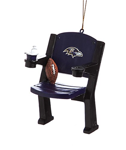 NFL Baltimore Ravens Stadium Chair Christmas Ornament, Small, Multicolored