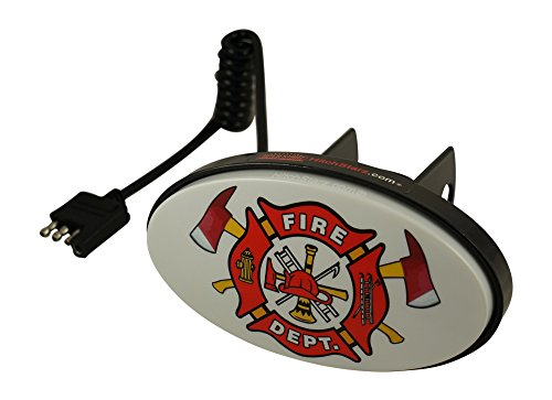 (Hitch Starz - Illuminate Your Attitude. The Original Changeable Hitch Cover. (Fire Department) Universal fit 1.25