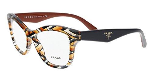 Prada Women's PR 29RV Eyeglasses Sheaves Grey Orange 54mm (Prada 54mm)