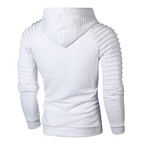 Homme De Sweatshirt Blanc Sport Innerternet C Manches Tops Longues Casual Sweat Capuche Hoodie À dvBqfA