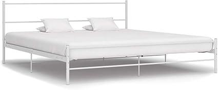Tidyard Estructura de Cama de Metal Blanco 200x200 cm ...