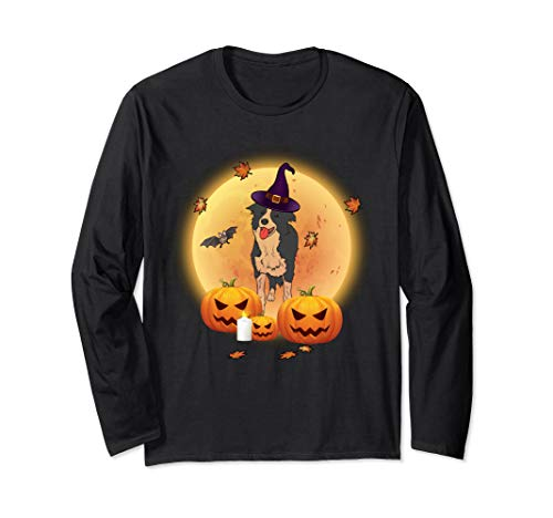 Halloween Border Collie (Hallowe'en Border Collie Gift- Border Collie Funny Halloween Long Sleeve)