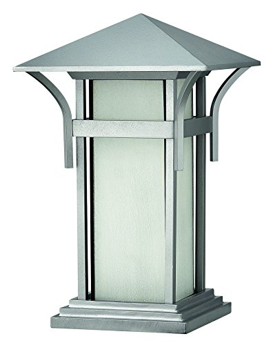 Hinkley 2576TT Craftsman/Mission One Light Pier Mount from Harbor collection in Pwt, Nckl, B/S, Slvr.finish, (Light Mount Post Mission)