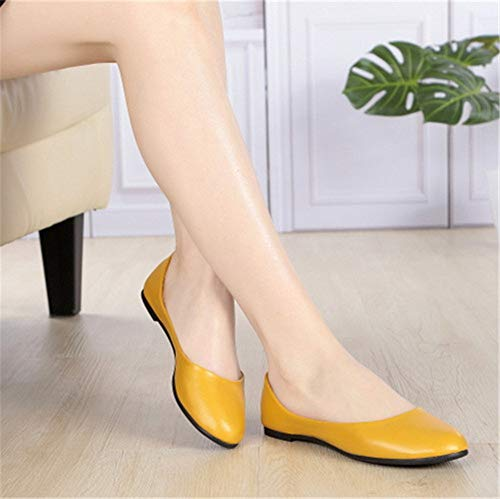 work mouth pregnant shoes shoes shoes shoes FLYRCX shallow flat Red soft fashion Ladies autumn comfortable casual rose women bottom and spring wYTq4F