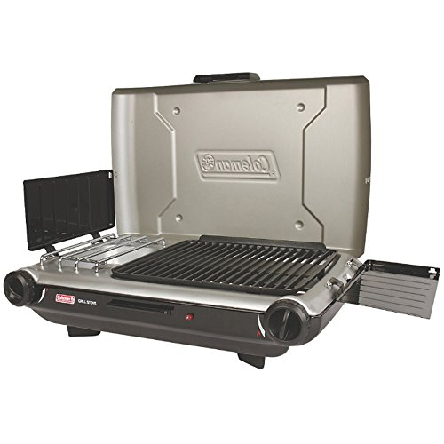 Instastart Stove (Coleman Portable Camping 2-Burner PerfectFlow Instastart Propane Grill/Stove)