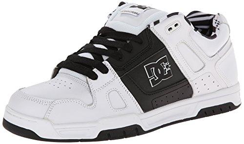 Men's Stag Sneaker,White/Black/White,8.5 M US