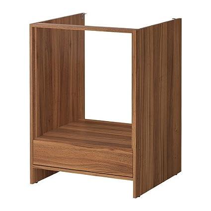 IKEA FYNDIG - Mueble bajo para horno, marrón medio, efecto de madera - 63x60x86