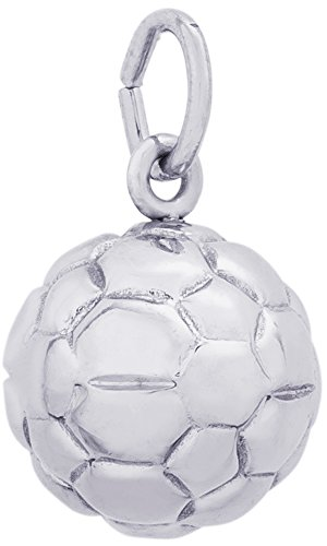 Rembrandt Charms, Soccer Ball, 14k White Gold by Rembrandt Charms